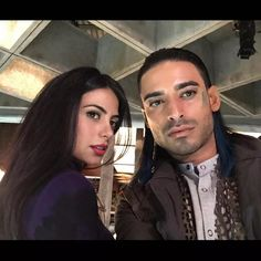 Isabelle and Meliorn on set. #Shadowhunters