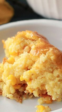 Sweet Corn Spoonbread. Next time I'm invited to dinner, this is the dish I'll bring.