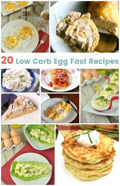 20 Low Carb Egg Fast Recipes Peace Love and Low Carb 20 quick and easy keto recipes to help make your egg fast easier. Breakfast Ideas Without Eggs, Breakfast Recipes, Breakfast Gravy, Breakfast Panini, Breakfast Hash, Breakfast Cookies, Breakfast Casserole, Egg Recipes, Real Food Recipes
