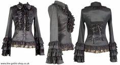 Mistress Black Cotton & Lace Corseted Longsleeve Blouse http://www.the-gothic-shop.co.uk/mistress-black-cotton-lace-corseted-longsleeve-blouse-p-5860.html