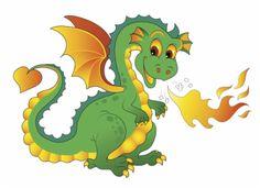 """""""The Clumsy Dragon"""" by Rick Tobin © Dinosaur Pictures, Dragon Pictures, Dinosaur Sketch, Cartoon Dragon, Classic Cartoon Characters, Cartoon Monsters, Vintage Fairies, Mini Canvas Art, Cute Dragons"""