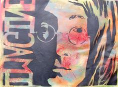 Stencil painting in spray paint. School Painting, Stencil Painting, Painting Lessons, Stencils, High School, Art, Art Background, Grammar School, Kunst