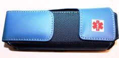 Case for your FRIO Insulin Cooling Wallet with Air Flow Openings. Elegant Leather Waist Case for carrying Insulin Supplies or one Epipen auto injector Epi Pen Case, Leather Holster, Blue Tones, Leather Cover, Leather Craft, Zip Around Wallet, Cool Stuff, Stylish, Wallets
