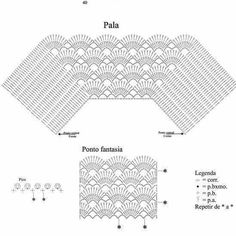 Poncho, Cardigan, Crochet Stitches, Crochet Projects, Charts, Crocheting, Crochet Top, Quilts, Food
