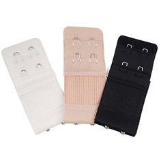 8123a00d9f 3 x Bra Extender 3 Hooks 2 Hooks Ladies Bra Extension Strap Underwear  Strapless. Attaches onto 2 or 3 hooks bra directly. adjustable length