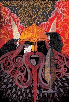 👈🏻⠀ 🔹️Odin is a widely revered god in Germanic mythology. In Norse mythology, from which stems most surviving information… Art Viking, Viking Warrior, Viking Berserker, Symbole Viking, Norse Pagan, Norse Vikings, Asatru, Viking Tattoos, Gods And Goddesses