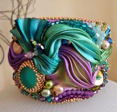 de Cor's Handmades - Malaysia Handmade Jewelry: Step By Step Shibori Cuff Tutorial by Serena Di Mercione Jewelry