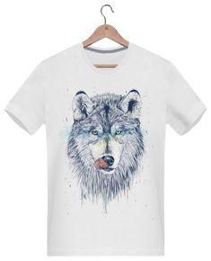 Camiseta Hombre 180g Dinner Time - Balàzs Solti - Tunetoo #animales #camisetas  #personalizado #moda #ropa #diseño #estilo #ideas