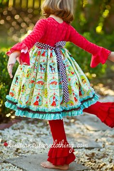 Alpine Holiday Girls Christmas Dress http://kinderkoutureclothing.com