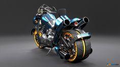 ArtStation - Future Police Bike, Leo Windham