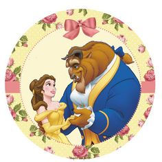 La Bella y la Bestia con Rosas: Wrappers y Toppers para Cupcakes para Imprimir Gratis.