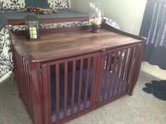 Turning D's crib into a dog crate!  Doing this soon.