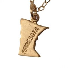 Minnesota State Charm Necklace. #necklaces #jewelry   9thelm.com