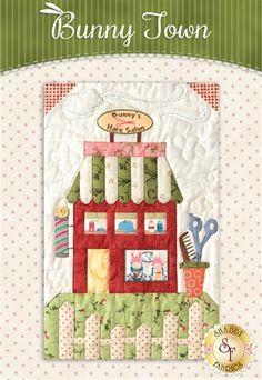 "Celebrate Spring with this adorable Bunny Town Quilt designed by The Quilt Company! The Bunny Town quilt finishes to approximately 54½"" x 68½"" and is overflowing with an darling bunny town, cute little bunnies and plenty of carrots!Your kit will include the following:  Pre-fused and Laser-Cut Applique pieces. No need to trace and cut! All 7 Patterns All Maywood Studio Fabrics exactly as shown - borders & binding included Accessory Fabric Packet Button ..."