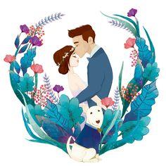 Pin by rajesh patnla on art girl illustration, dessin famill Art And Illustration, Wedding Illustration, Portrait Illustration, Wedding Drawing, Wedding Painting, Wedding Art, Wedding Couples, Trendy Wedding, Couple Drawings