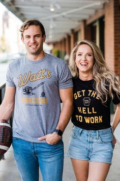 """We bleed black & gold. The softest t-shirts, hoodies, long sleeve tees & more for game day. Rep' the black and gold all season long. ⭐️⭐️⭐️⭐️⭐️ """"When I wore this for the first time it seemed like everyone I met complimented this shirt and asked where to get it."""" -Daniel H. Football Outfits, Hoodies, Sweatshirts, Long Sleeve Tees, My Style, Black Gold, Mens Tops, How To Wear, T Shirt"""