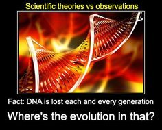 DNA Entropy is happening and things are winding down not up as Darwinian evolution claims.