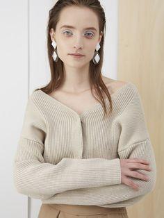 Knit Pants, Knit Shirt, Knit Cardigan, Knit Fashion, Womens Fashion, Minimal Fashion, Sweater Weather, Cardigans For Women, Rib Knit