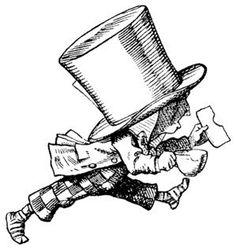 Mad hatter rubber stamp