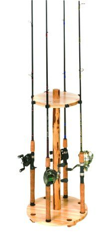 Round fishing rod rack plans woodworking projects plans for Fishing rod holder plans
