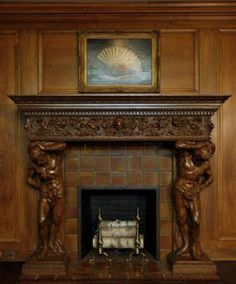 The mantelpiece and hearth are central to the Victorian home Victorian Life, Victorian Design, Victorian Decor, Victorian Homes, Victorian Interiors, Victorian Fireplace Mantels, Mantles, Rocky River, Fireplace Mirror