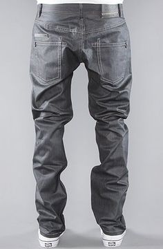 ORISUE The Oaks Tailored Fit Jeans in Raw Indigo Coated Wash,Denim for Men $66.00
