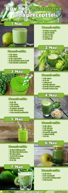 Nem véletlen, hiszen nem csak nagyon finomak de nagyon egészségesek is. Clean Eating Recipes, Raw Food Recipes, Diet Recipes, Healthy Recipes, Yummy Smoothies, Smoothie Recipes, Herbal Remedies, Natural Remedies, Healthy Drinks
