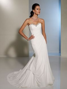 Va va voom wedding dress Mon Cheri.