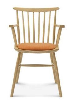 Klasyczne drewniane krzesło z opcją tapicerowanego siedziska B-1102/1, Fameg - Meble, 392zł