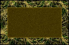 Shadow Grass Mossy Oaks Bordered Brown Greeen Camouflage Area Rug