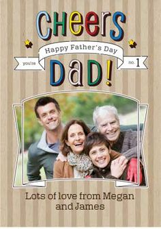 Loving the Stripes on this designer Father's Day Photo Upload Card Fathers Day Photo, Fathers Day Cards, Photo Upload, Top 40, Pick One, Cheers, Card Making, Stripes, Messages