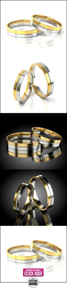 Anillos De Boda Oro Blanco / Oro amarillo 750_PD155_S-776_D  ✿ Joyas para hombres especiales - lujo ✿ ▬► Ver oferta: https://comprar.io/goto/B01DRBZVCA