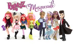 New Bratz Masquerade dolls -- ranging from a Princess to a vampire -- can hide their faces behind a mysterious mask. The collection features Vampire Kirana, Finora the Witch, Lian the Fairy and Princess Brielle.