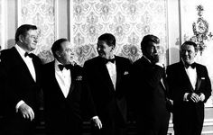 Bob Hope, Dean Martin, Frank Sinatra, Ronald Reagan, Deano