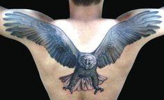 09 Eagle Tattoo on Back