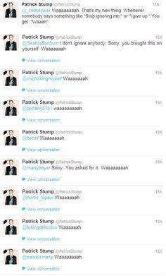 Waaaaah! Patrick Stump!