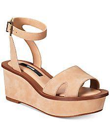 kensie Tray Wedge Sandals