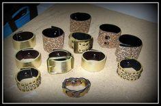 Love these upcycled belt bracelets.