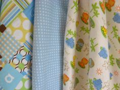 Set of 3 Swaddling Blankets for Baby Baby Zoo by BAGSbyMartha, $28.00