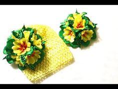 Первоцветы из лент/Примула цветок/Весенняя композиция/ Primula Fowers/ Tutorial/D.I.Y - YouTube