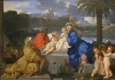 The Holy Family with Saints Elizabeth and the Infant John the Baptist - Sebastien Bourdon