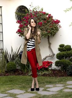 Love these red pants!