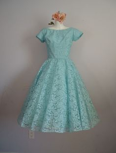 Vintage 1950's Prom Wedding Party Tea Length by MadMakCloset