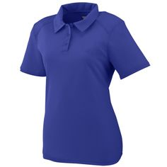 Ladies Vision Polo:  100% polyester wicking textured knit