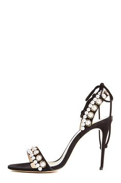 -Rose pink suede stiletto heel with pearl embellishment-Wrap ankle strap-Leather mm heel height Made in Italy. Pearl Sandals, Suede Sandals, Walk This Way, White Leather, Ankle Strap, Stiletto Heels, Fashion Shoes, Pearls, My Style