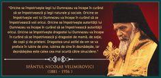 Sf. Nicolae Velimirovici Faith In God, Christian Quotes