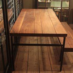 Thick dinig table 試作サンプル品 [ 厚さ49mmのウォールナットの天板。「贅沢」の一言です ] - サンコーのテーブル通販 | リグナ東京