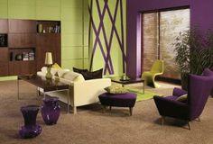 Purpura y verde
