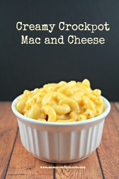 This easy crock pot mac and cheese recipe is easy and creamy and won't dry out when you make it. You might want to double the recipe because your family will want seconds!
