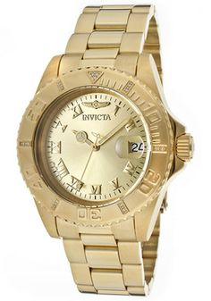 Invicta 12820 Watches,Women's Pro Diver Gold Tone Dial 18K Gold Plated Stainless Steel, Women's Invicta Quartz Watches